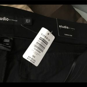 Torrid size 24s black dress pants, new with tags